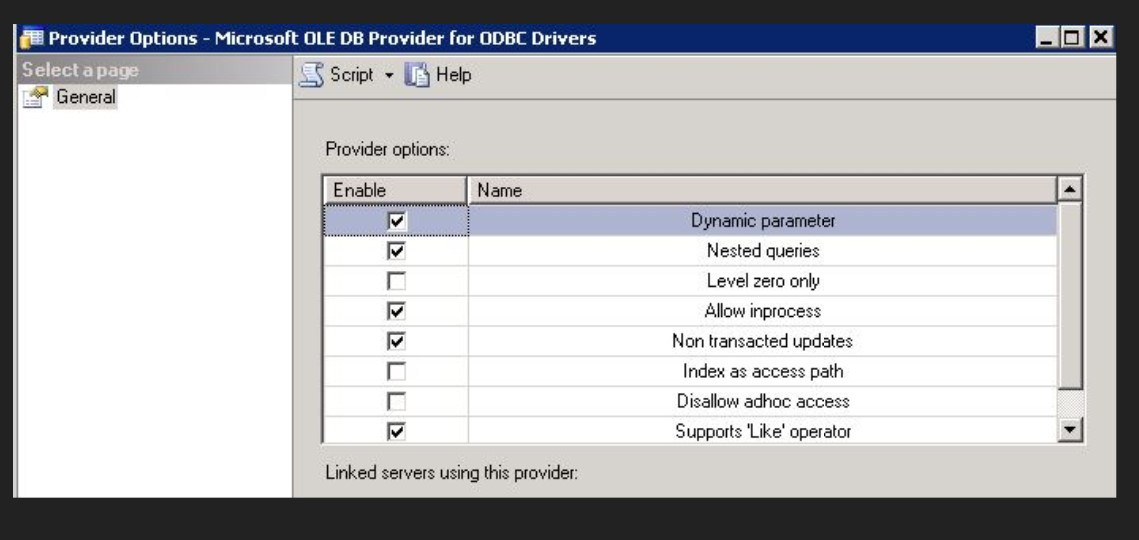How to create the MS SQL Linked Server via CIS ODBC driver to access
