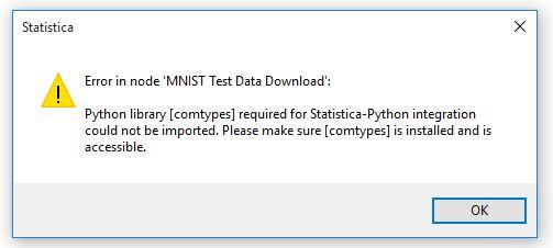 Python Node error : Python library [xyz] required for