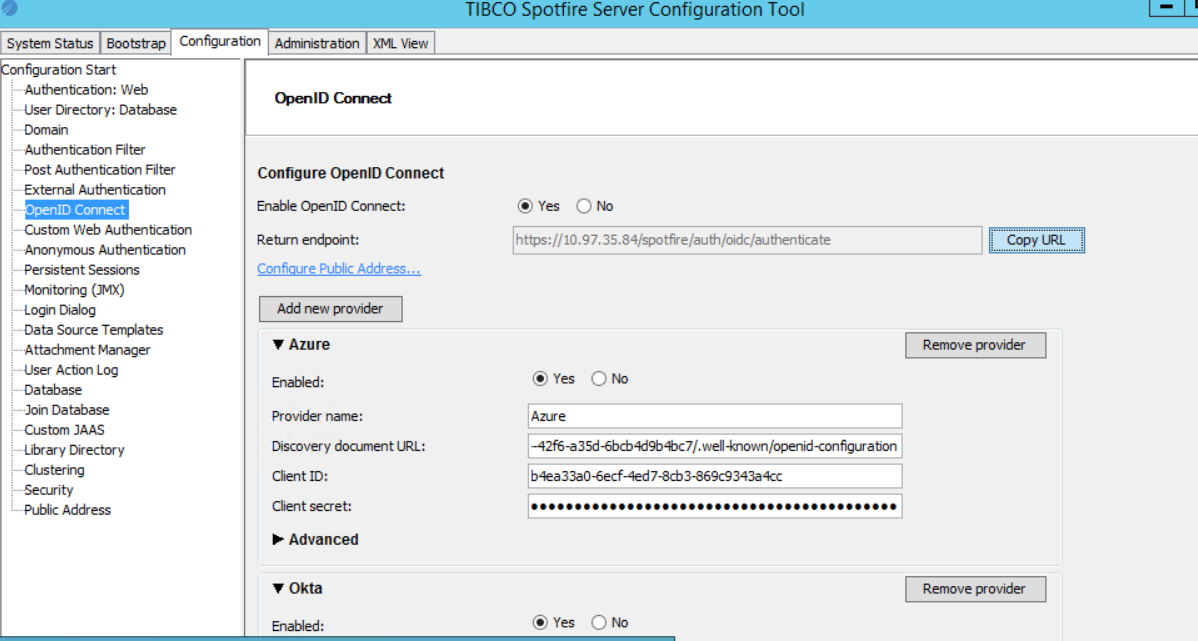 How to configure OpenID connect authentication with Okta on
