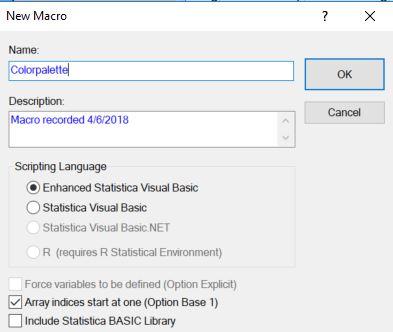Macro recording of Statistica graphs