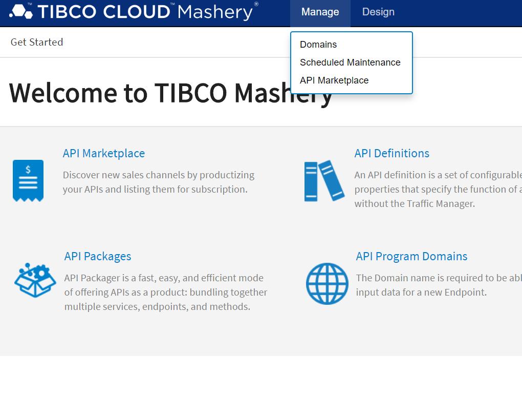 Screenshot van TIBCO Cloud Mashery software.