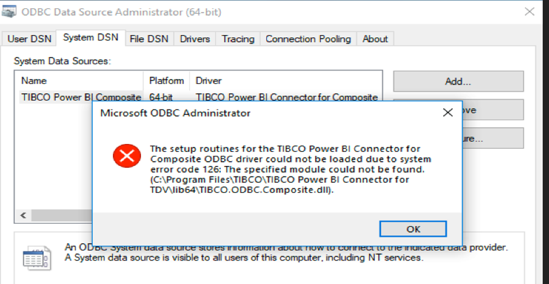 Unable To Open Or Configure Power BI Driver After Installation
