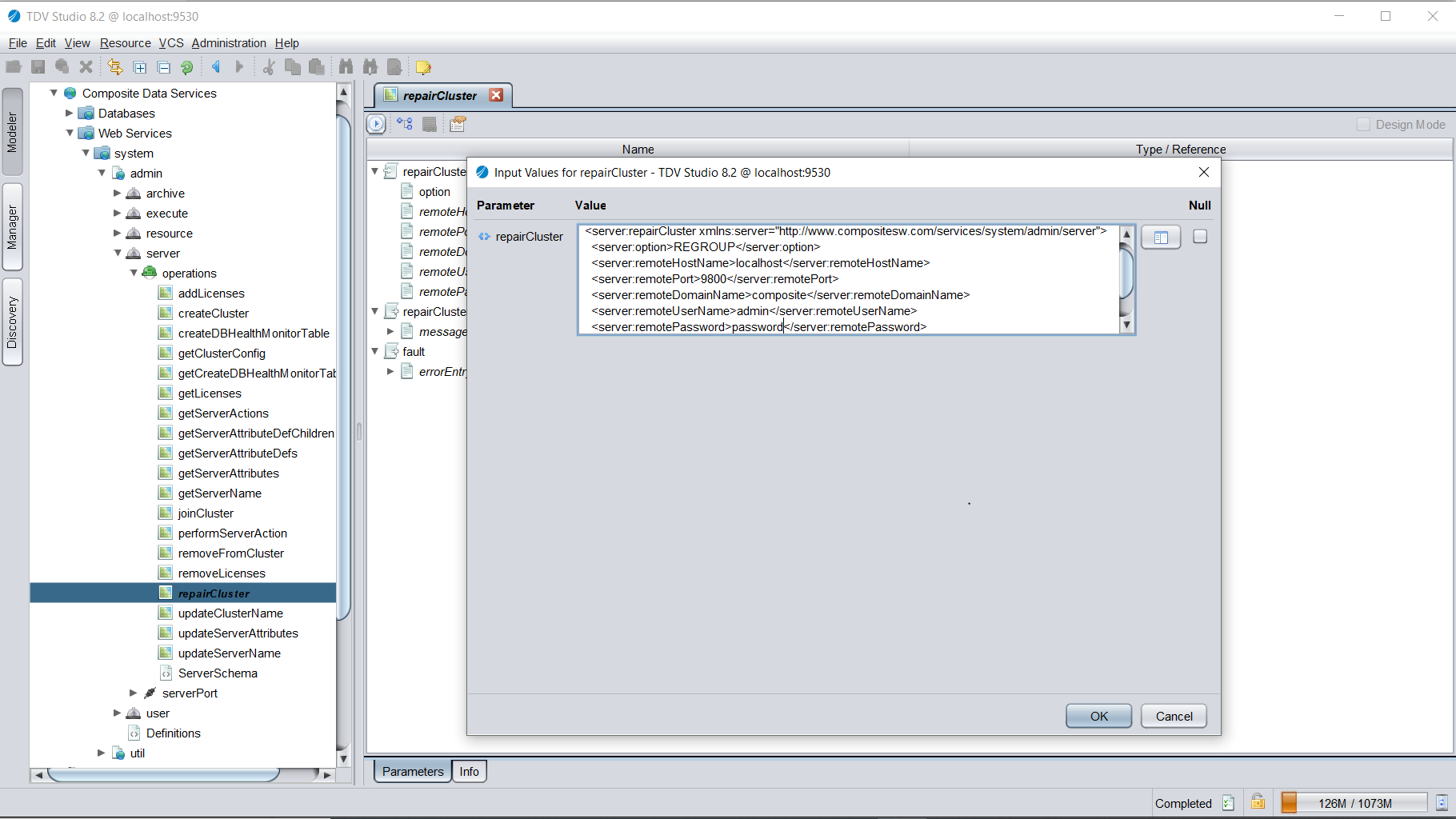 Schema van TIBCO Data Virtualization.