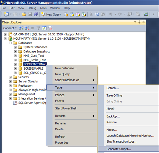 Exporting Data From SQL Server Into A Script File